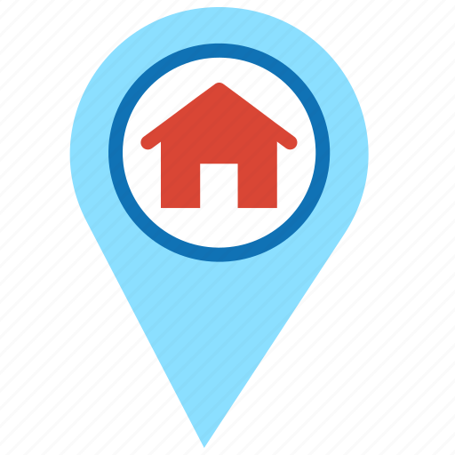 Home, house, location, location market, map, pointer icon - Download on Iconfinder