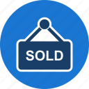 offer, sign, sold icon