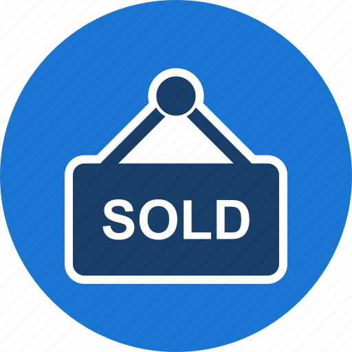 offer, real estate, sign, sold icon