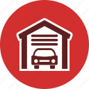 car garage, garage, parking icon