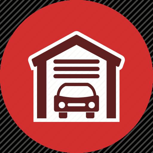 car garage, garage, home garage, house garage, parking icon