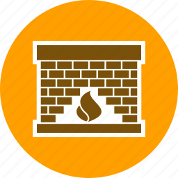 chimney, fire, fire place, fireplace, living room, modern fire place, open fire icon