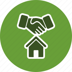 contract, deal, home, house icon