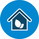 eco, green house, home, house icon