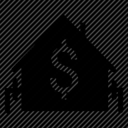 bank, building, estate, real icon