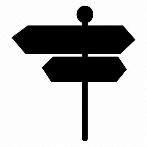 arrow, board, direction, roadsign icon