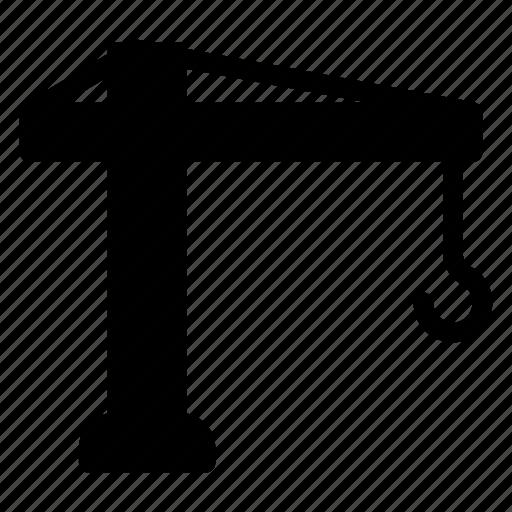 crane, lifter, transport, vehicle icon