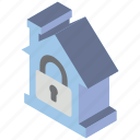 building, house, iso, isometric, locked, real estate
