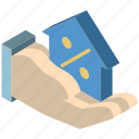 building, discount, house, iso, isometric, real estate