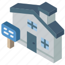 building, house, iso, isometric, real estate
