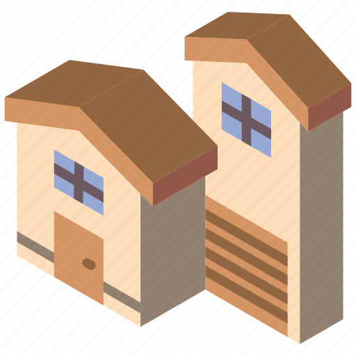 Building, houses, iso, isometric, real estate icon - Download on Iconfinder