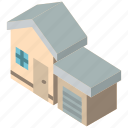 building, garage, houses, iso, isometric, real estate