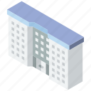 appartment, building, complex, iso, isometric, real estate