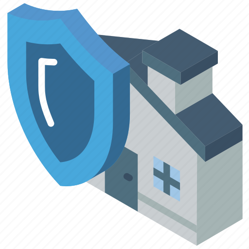 building, house, iso, isometric, protected, real estate icon