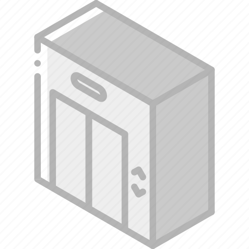 Building, elevator, iso, isometric, real estate icon - Download on Iconfinder
