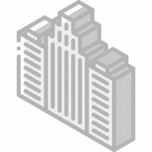 Building, buildings, iso, isometric, real estate icon - Download on Iconfinder