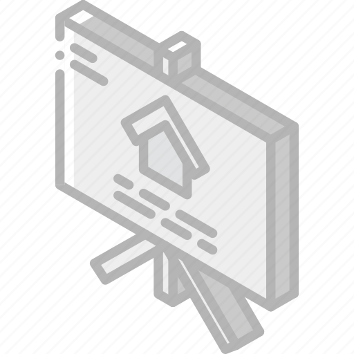 Building, for, iso, isometric, real estate, sale, sign icon - Download on Iconfinder