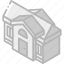 building, house, iso, isometric, real estate icon