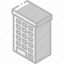 appartment, building, iso, isometric, real estate icon