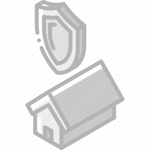 Building, iso, isometric, protected, real estate, sale icon - Download on Iconfinder