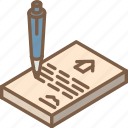building, contract, iso, isometric, real estate icon