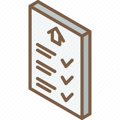 Building, contract, iso, isometric, real estate icon - Download on Iconfinder