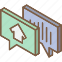 building, conversation, house, iso, isometric, real estate icon