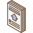 advert, building, house, iso, isometric, real estate icon