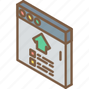 browser, building, house, iso, isometric, real estate icon