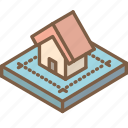 blueprint, building, house, iso, isometric, real estate