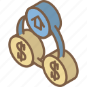 building, flow, iso, isometric, money, real estate icon