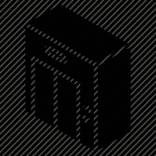building, elevator, iso, isometric, real estate icon