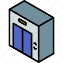 building, elevator, iso, isometric, real estate