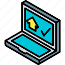 building, house, iso, isometric, real estate, sold icon