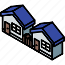 building, houses, iso, isometric, real estate