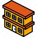 biulding, building, condo, iso, isometric, real estate icon