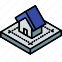 blueprint, building, isometric, house, iso, real estate