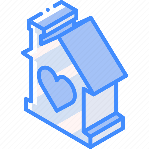 building, house, iso, isometric, like, real estate icon