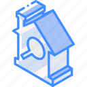 building, house, iso, isometric, real estate, search icon