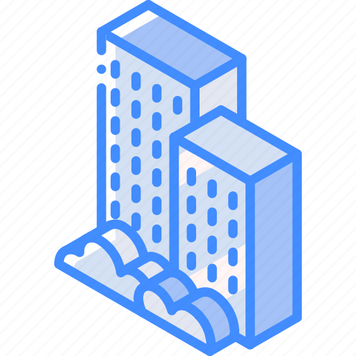 Building, iso, isometric, real estate icon - Download on Iconfinder