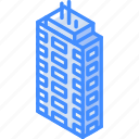 appartments, building, iso, isometric, real estate