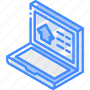 browsing, building, house, iso, isometric, real estate icon