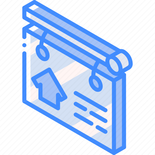 building, for, iso, isometric, real estate, sale, sign icon