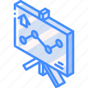 building, graph, iso, isometric, real estate, sign icon