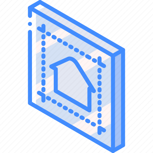 Blueprint building house iso isometric real estate icon icon blueprint building house iso isometric real estate icon malvernweather Images
