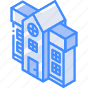 building, iso, isometric, mansion, real estate