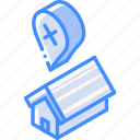 building, error, iso, isometric, real estate, sale icon
