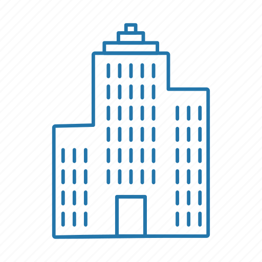 business, estate, flats, real, tower icon