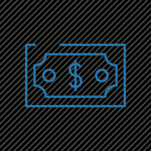 dollar, estate, finance, money, real icon