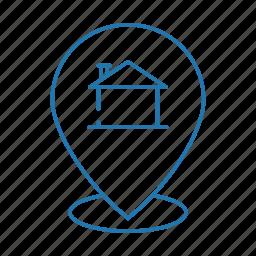 business, estate, hut, navigation, real icon